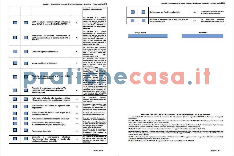 Agibilità Dopo Ristrutturazione scea segnalazione di conformità edilizia e agibilità