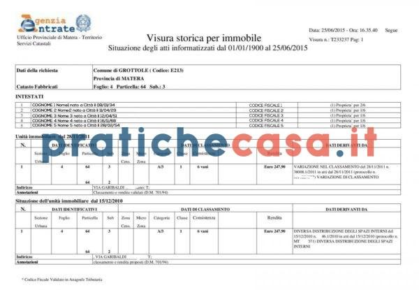 visura catastale storica pratiche casa 1 www.pratichecasa.it