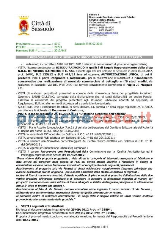 Copia Concessione Edilizia Richiedi Online Www Pratichecasa It